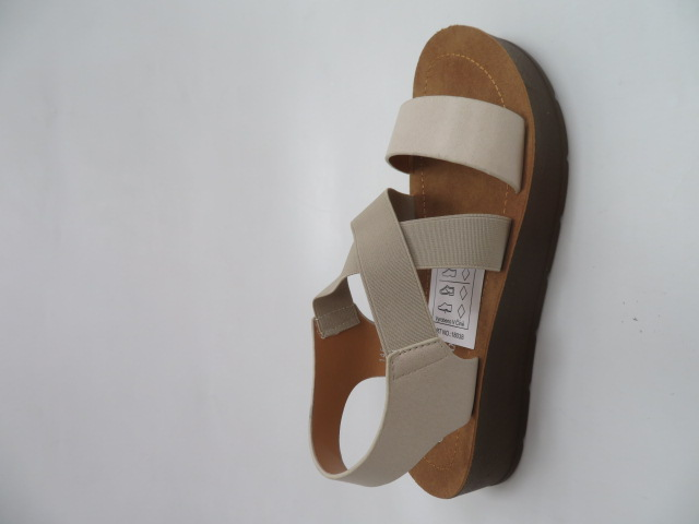 Sandały Damskie 1458, Beige, 36-41