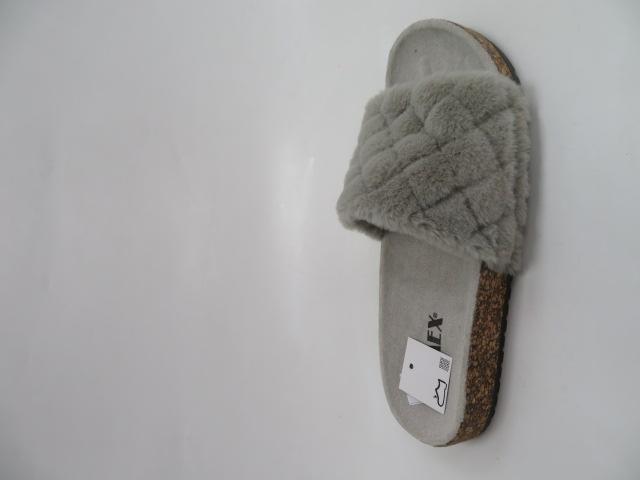 Klapki Damskie JE7012, Grey, 36-41