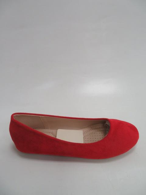 Baleriny Damskie FLL-01 ,Red,  36-41