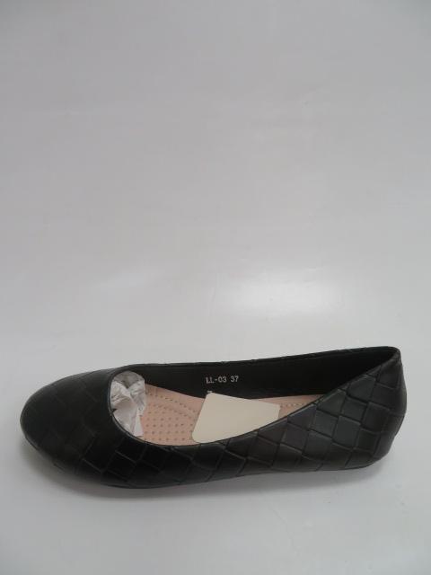 Baleriny Damskie FLL-03, Black, 36-41