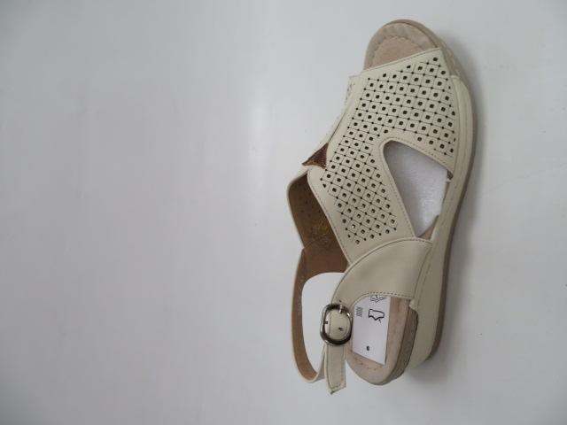 Sandały Damskie 6056-7, Beige/Brown, 36-41