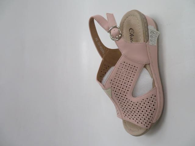 Sandały Damskie 6056-22, Pink/Beige, 36-41