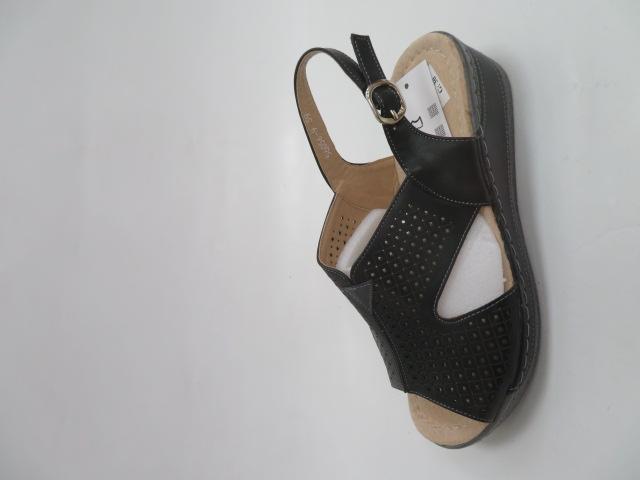 Sandały Damskie 6056-9, Black/Grey, 36-41