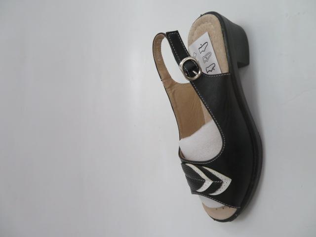 Sandały Damskie B305-1, Black/White, 36-41