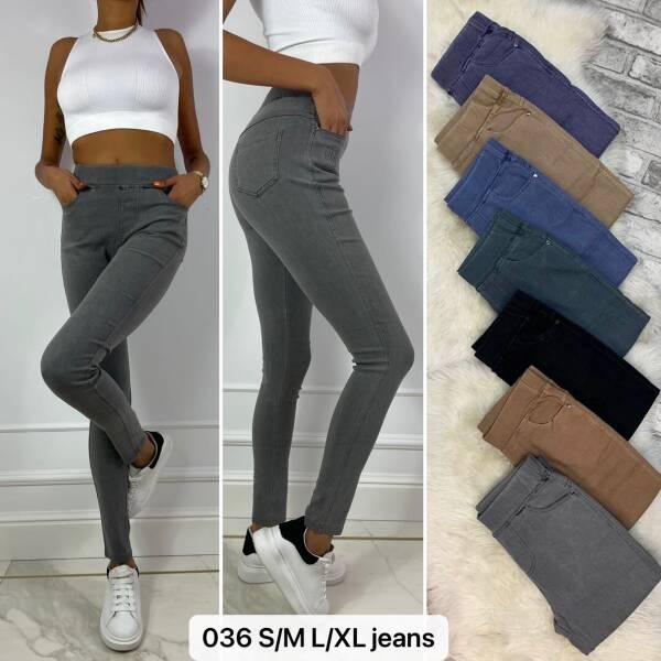 Spodnie Damskie 036 MIX KOLOR S/M-L/XL
