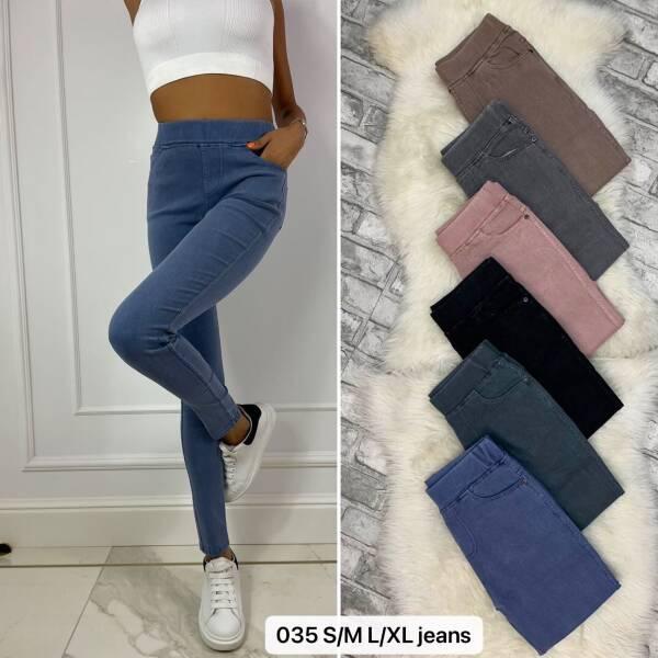 Spodnie Damskie 035 MIX KOLOR S/M-L/XL