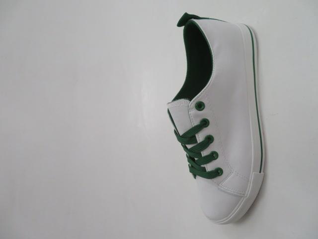 Trampki Damskie DF2702, White/Green, 36-41