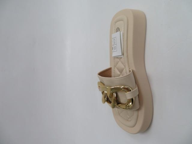 Klapki Damskie LS-8919, Beige, 36-41 2