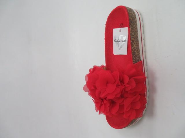 Klapki Damskie 5072, Red , 36-41