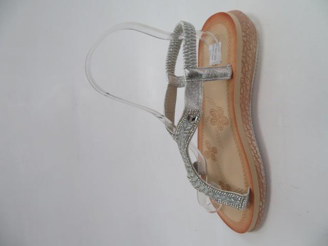 Sandały Damskie WS9017, Silver, 36-41