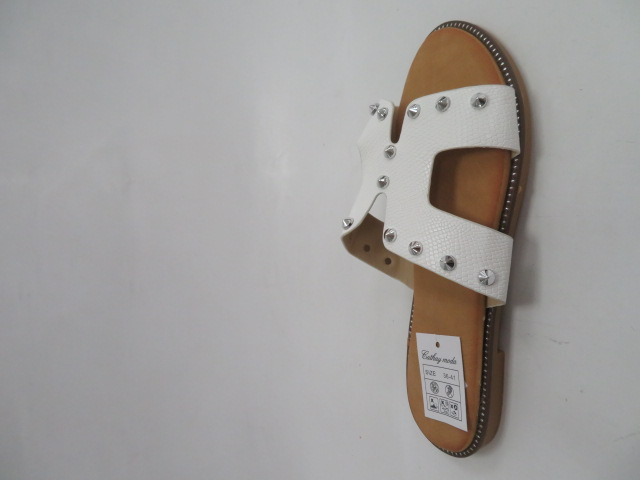 Klapki Damskie 8230, White, 36-41