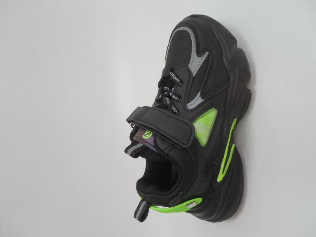 Buty Sportowe Dziecięce L312, Black/Green, 27-31