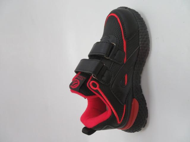Buty Sportowe Dziecięce E60, Black/Red, 26-31 2