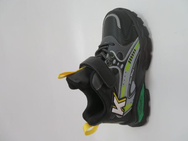 Buty Sportowe Dziecięce  L251, Black/Yellow, 26-31
