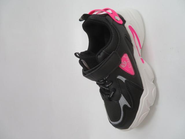 Buty Sportowe Dziecięce L312, Black/Peach, 27-31