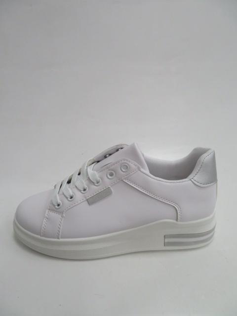 Trampki Damskie 81102, White/Silver, 36-41