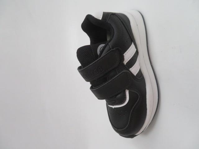 Buty Sportowe Dziecięce E77, Black/White, 25-30