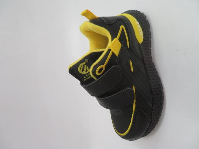Buty Sportowe Dziecięce E60, Black/Yellow, 26-31