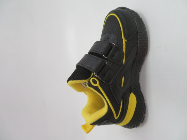 Buty Sportowe Dziecięce E60, Black/Yellow, 26-31 2
