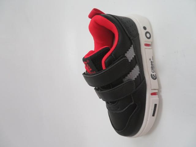 Buty Sportowe Dziecięce E81, Black/Red, 21-26