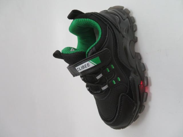 Buty Sportowe Dziecięce E70, Black/Green, 21-26