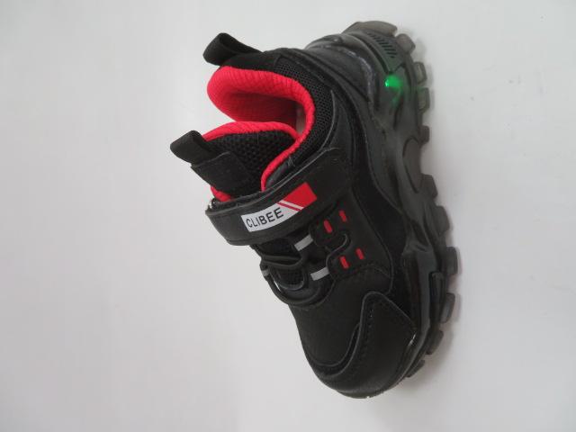 Buty Sportowe Dziecięce E70, Black/Red, 26-31