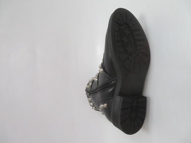 Botki Damskie D17-6076, Black, 36-41 3
