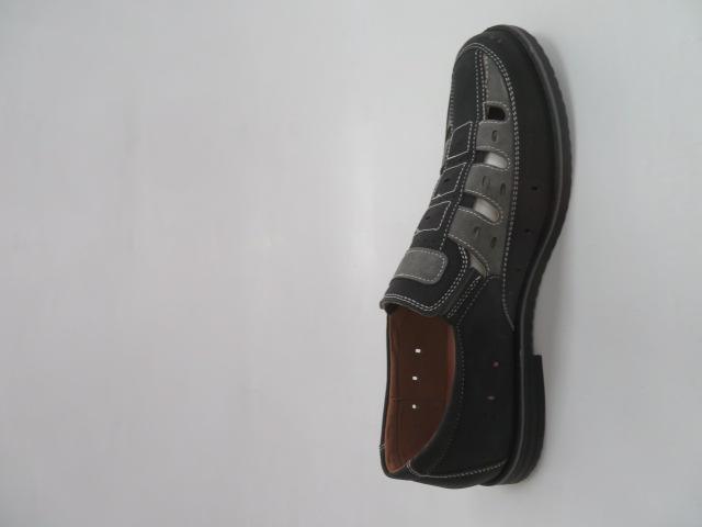 Półbuty Męskie M1004, Black/Grey, 41-46