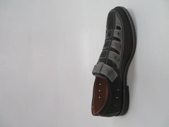 Półbuty Męskie M1005, Black/Grey, 41-46