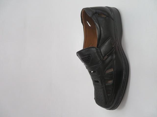 Półbuty Męskie DB043, Black, 40-45