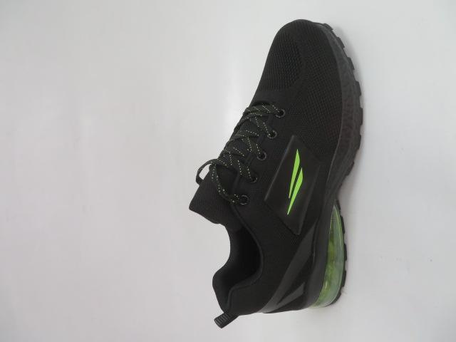 Buty Sportowe Męskie 2160, Black/Green, 41-46 1
