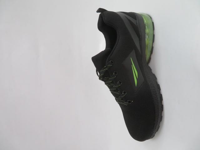 Buty Sportowe Męskie 2160, Black/Green, 41-46 3
