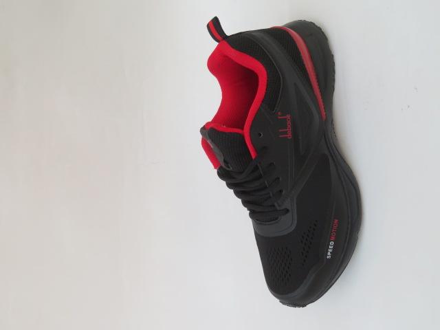 Buty Sportowe Męskie 2039-2, Black/Red, 41-46