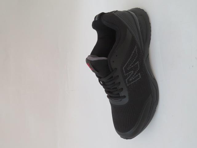 Buty Sportowe Męskie 2059-1, Black/Grey, 41-46