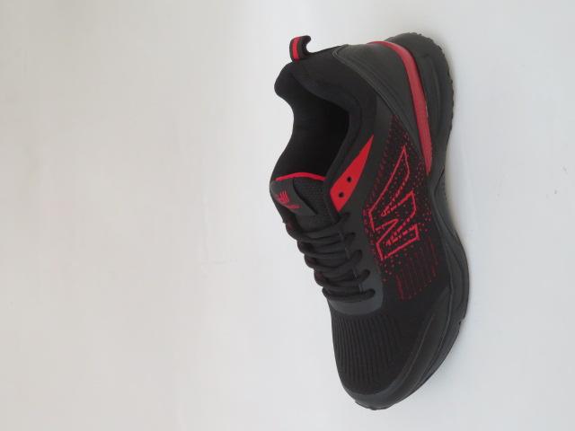 Buty Sportowe Męskie 2059-2, Black/Red, 41-46