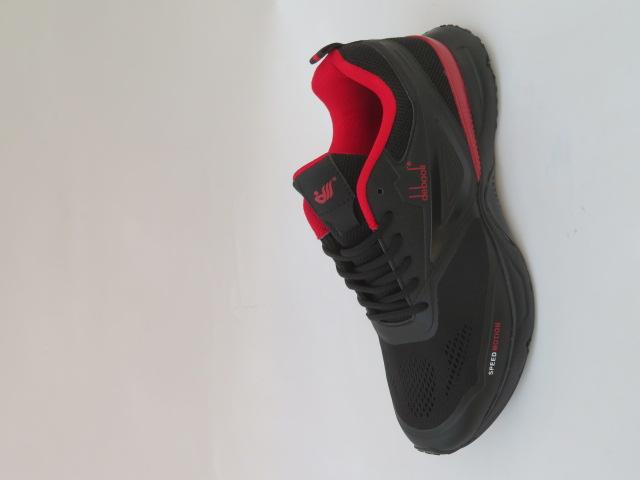 Buty Sportowe Męskie 2055-2, Black/Red, 47-49