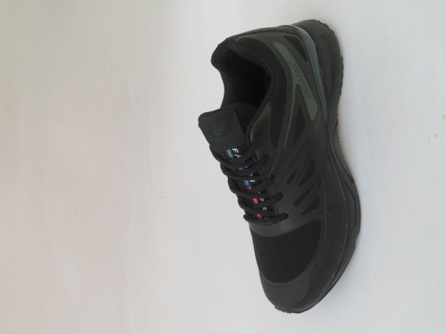 Buty Sportowe Męskie 2069-1, Black/Green, 41-46