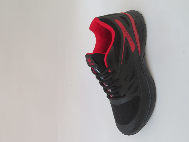 Buty Sportowe Męskie 2069-2, Black/Red, 41-46