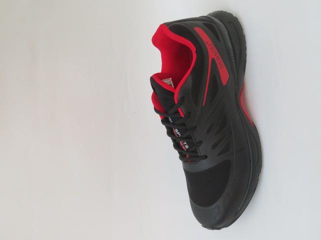 Buty Sportowe Męskie 2066-2, Black/Red , 47-49