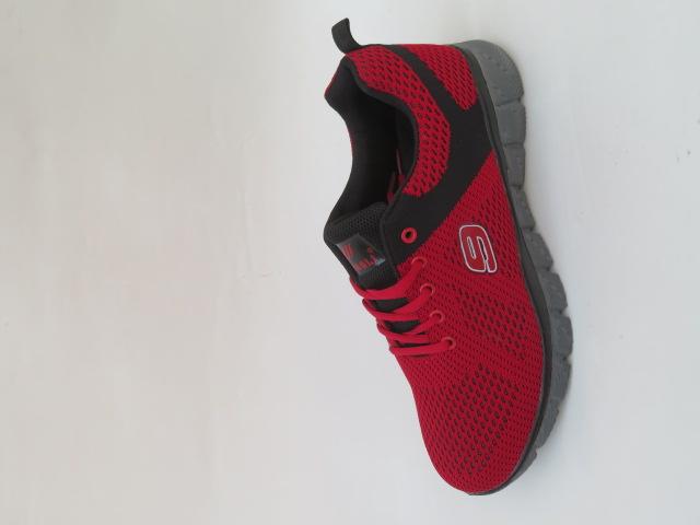 Buty Sportowe Męskie 389-2, Red/Black, 40-45