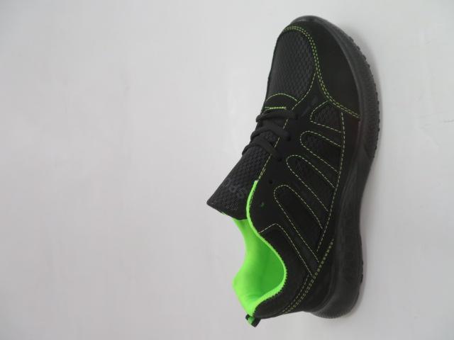 Buty Sportowe Męskie F052, Black/Green, 41-46