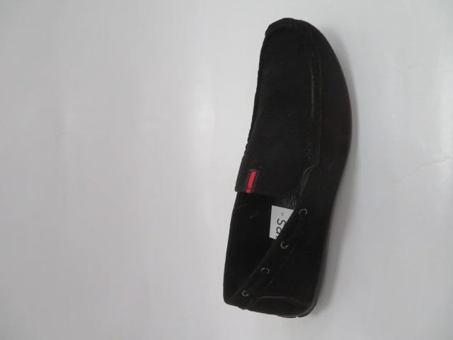Półbuty Męskie 5901, Black, 40-45