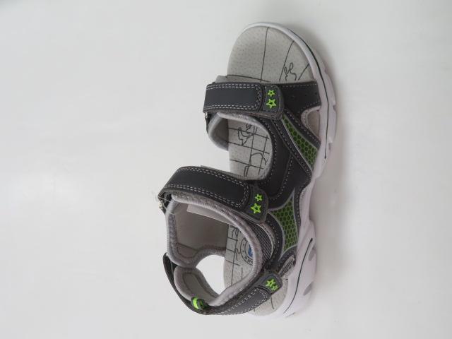 Sandały Dziecięce KF-06, DGrey/Lime , 28-36