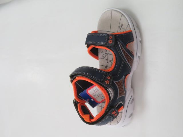 Sandały Dziecięce KF-06, Navy/Orange, 28-36