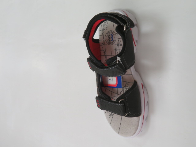 Sandały Dziecięce KF-11, Black/Red, 28-36