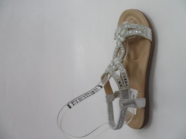 Sandały Damskie 6662, Silver, 36-41 1