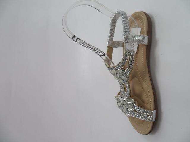 Sandały Damskie 6662, Silver, 36-41 2