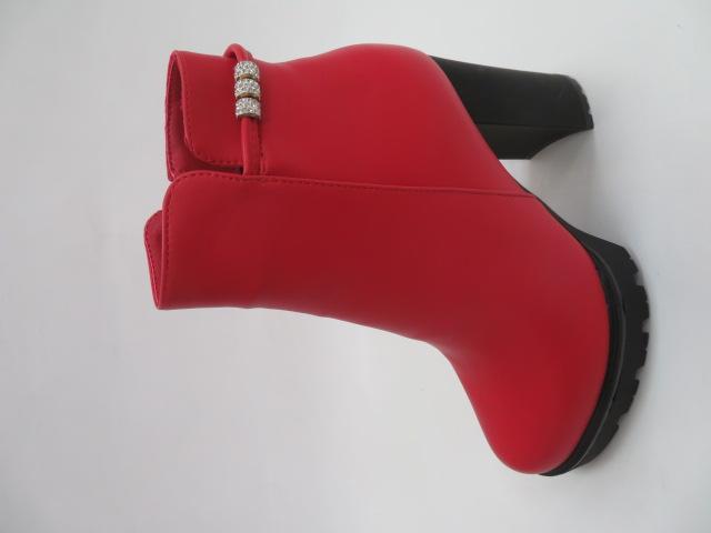Botki Damskie X-8082-8A, Red, 36-41 1