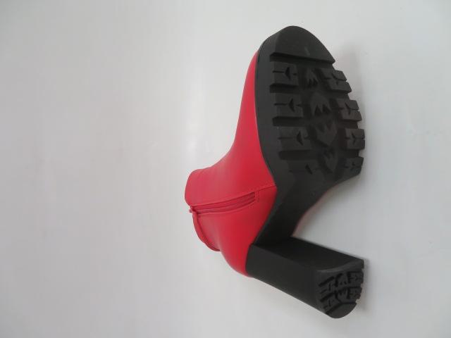 Botki Damskie X-8082-8A, Red, 36-41 3