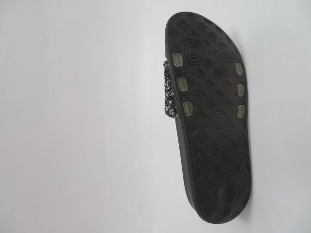 Klapki Damskie 0217, Black/Black, 36-41